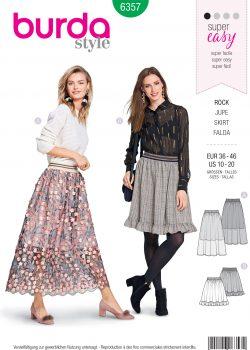 Burda Style Sewing Pattern - 6357 - Misses' Skirt - Size 10-20