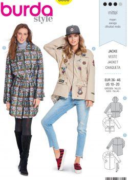 Burda Style Sewing Pattern - 6360 - Misses' Jacket - Size 10-20