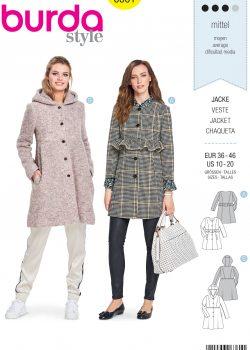 Burda Style Sewing Pattern - 6361 - Misses' Jacket - Size 10-20