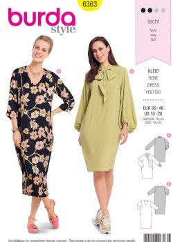Burda Style Sewing Pattern - 6363 - Misses' Dress - Size 10-20