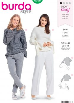 Burda Style Sewing Pattern - 6366 - Misses' Easy Tops - Size 8-18