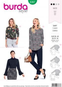 Burda Style Sewing Pattern - 6367 - Misses' Tops - Size 10-18