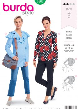Burda Style Sewing Pattern - 6368 - Misses' Tops - Size 10-20