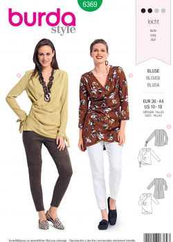 Burda Style Sewing Pattern - 6369 - Misses' Blouse - Size 10-18