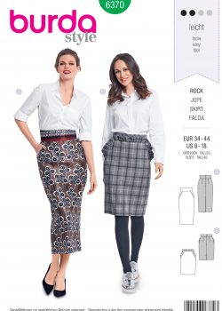Burda Style Sewing Pattern - 6370 - Misses' Pencil Skirt - Size 8-18