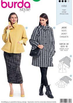 Burda Style Sewing Pattern - 6372 - Misses' Jacket - Size 8-18