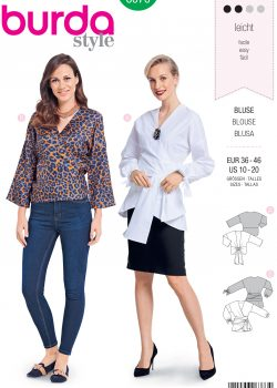 Burda Style Sewing Pattern - 6373 - Misses' Wrap Blouse - Size 10-20