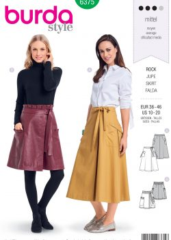 Burda Style Sewing Pattern - 6375 - Misses' Wrap Skirt - Size 10-20