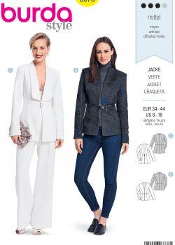 Burda Style Sewing Pattern - 6376 - Misses' Blazers - Size 8-18