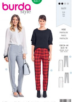 Burda Style Sewing Pattern - 6377 - Misses' Pants - Size 8-18