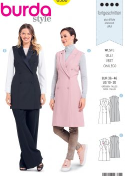 Burda Style Sewing Pattern - 6380 - Misses' Double Breasted Coat - Size 10-20