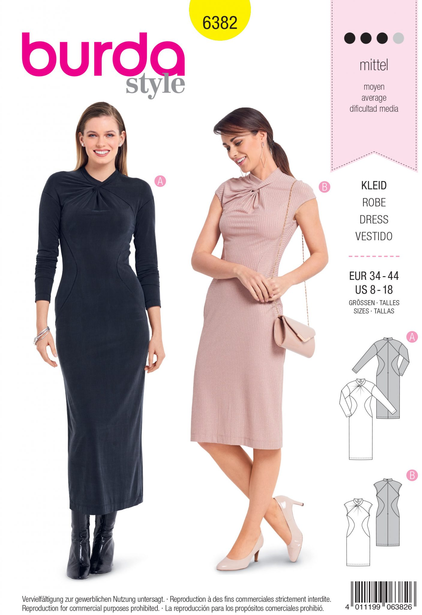 0918a4939788 Burda Style Sewing Pattern - 6382 - Misses' Shirt Dress - Size 8-18 ...