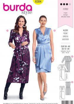 Burda Style Sewing Pattern - 6384 - Misses' Wrap Dress - Size 10-20