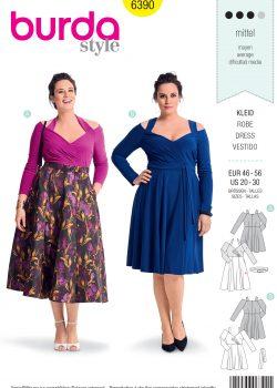 Burda Style Sewing Pattern - 6390 - Women's Dress - Size 20-30
