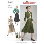 Simplicity Sewing Pattern 8462-H5 - Misses' Vintage Blouse, Skirt and Lined Bolero
