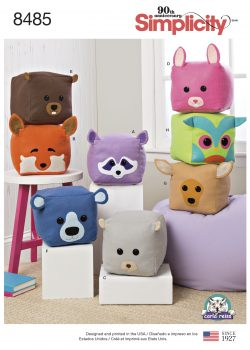 Simplicity Sewing Pattern 8485-OS - Stuffed Cube Animals