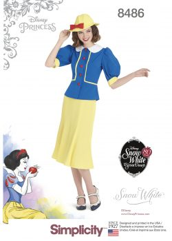 Simplicity Sewing Pattern 8486-R5 - Misses' 1930's Snow White Dress and Hat
