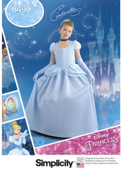 Simplicity Sewing Pattern 8490-K5 - Child's and Girls' Cinderella Costume