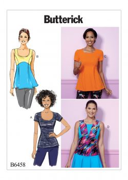 Butterick Sewing Pattern - Misses' Pullover, Paneled Tops - B6458-E5
