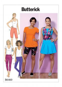 Butterick Sewing Pattern - Misses' Pleated Skort, and Pull-On Shorts and Pants - B6460-ZZ