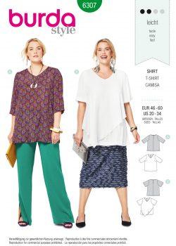 Womens Plus Size Shift Dress Burda Sewing Pattern 6389. Size 20 30.