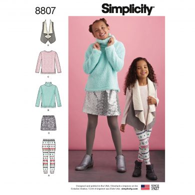 Simplicity Sewing Pattern - 8807-K5